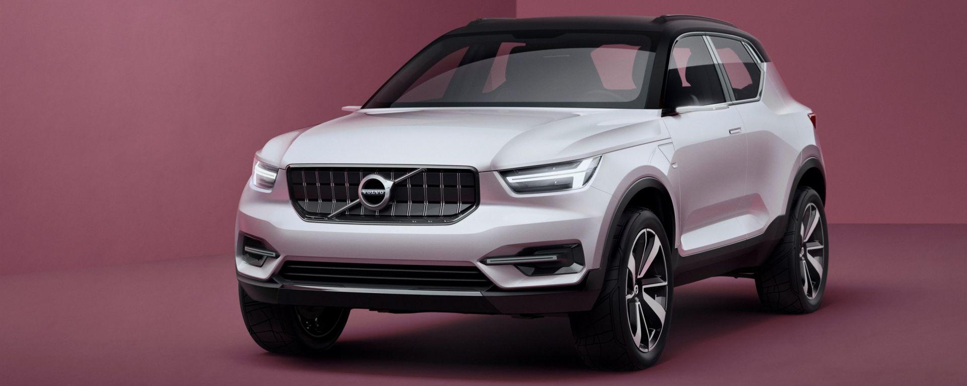 Volvo XC40 concept: il frontale
