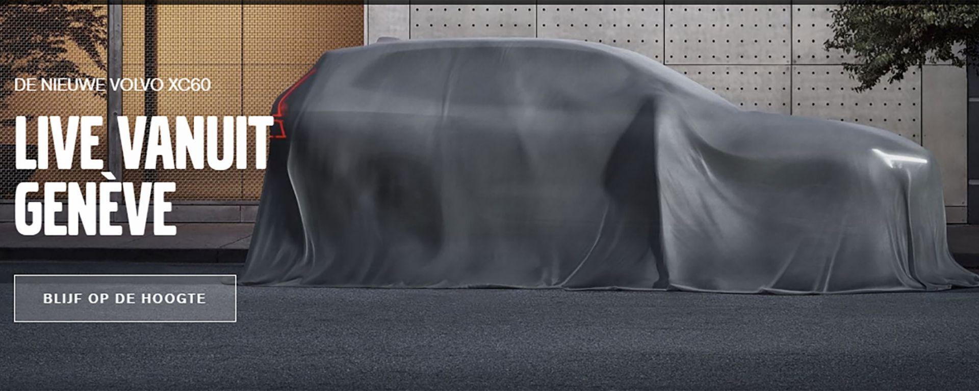 Volvo XC60: la prima immagine teaser che anticipa il debutto al Salone di Ginevra 2017