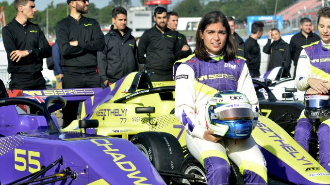 W-Series 2019, Brands Hatch: Jamie Chadwick prima delle qualifiche