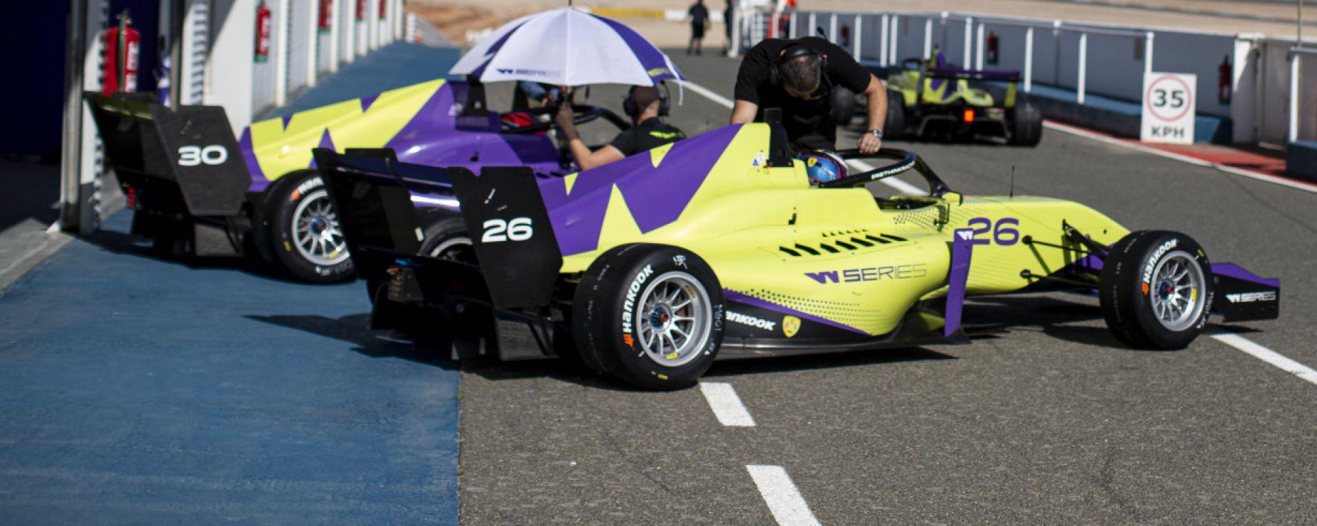 W-Series 2020, test Almeria: le monoposto durante i test