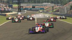 W Series Esports, Suzuka, partenza di gara 2