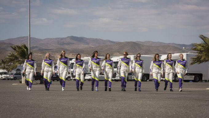 W-Series, le ragazze impegnate nel test di Almeria nel 2019