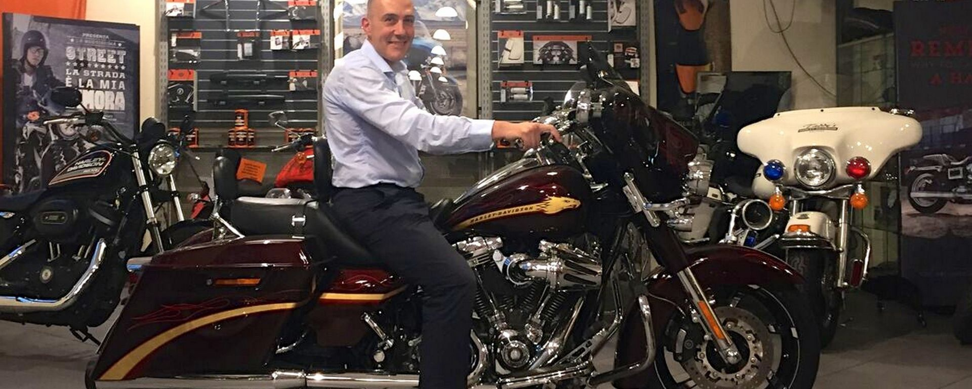 Walter Borroni, vincitore del concorso Discover More di Harley-Davidson