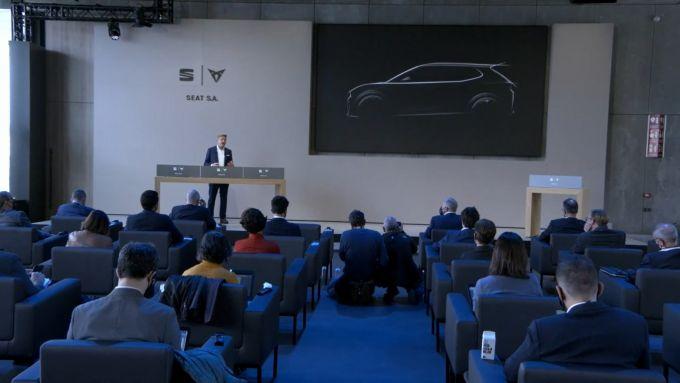 Wayne Griffiths, Presidente di Seat S.A., annuncia la futura eCar alla conferenza annuale del Marchio