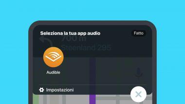 Waze + Audible: come funziona l'integrazione tra le due app