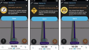 Waze per la settimana della sicurezza stradale dell'OMS: i messaggi di allerta
