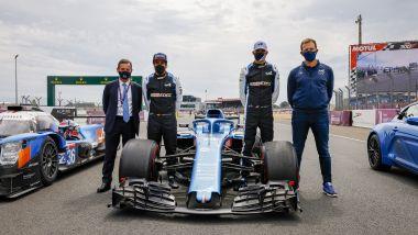 Wec, 24 Ore di Le Mans 2021: foto di rito per Alonso e Ocon