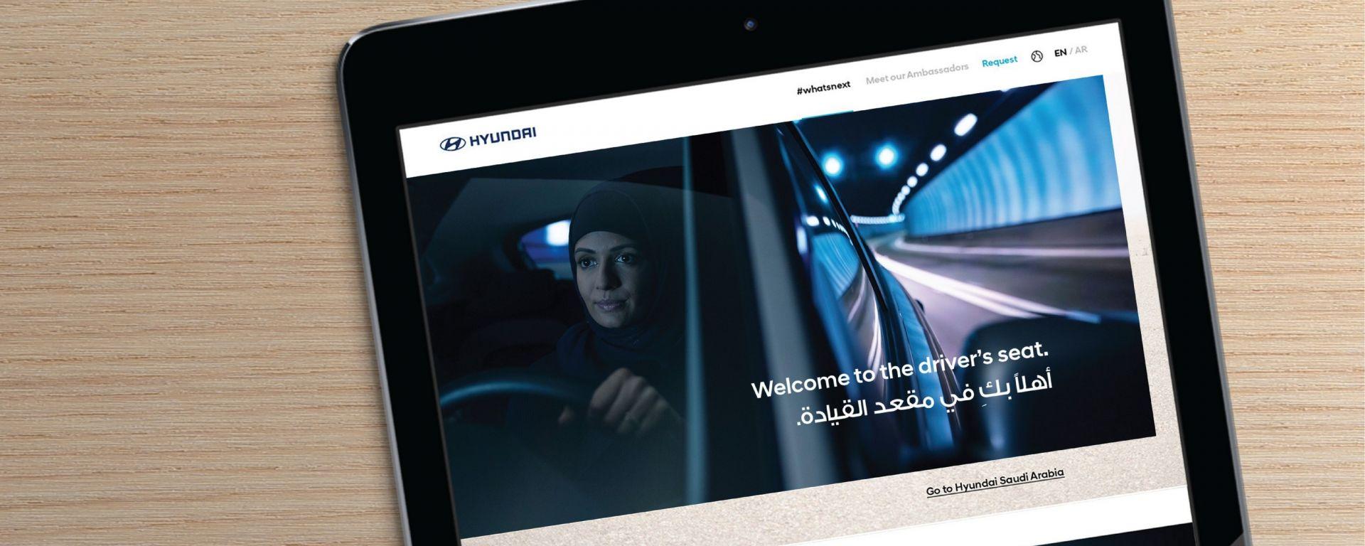 WhatsNext: la campagna di Hyundai per le donne dell'Arabia Saudita