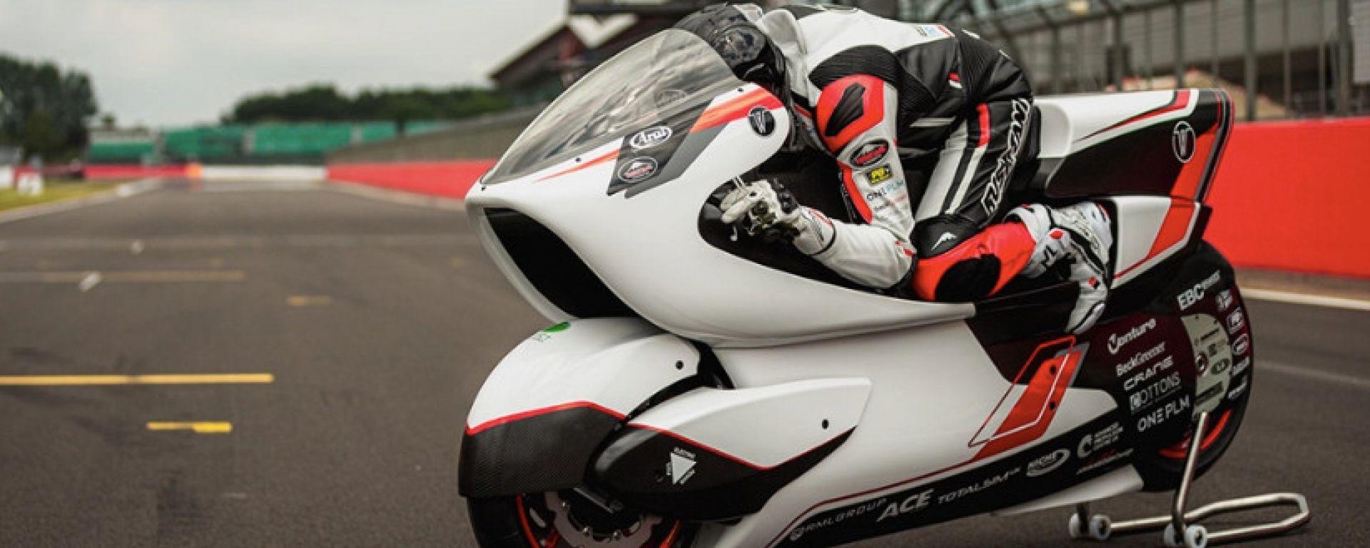 White Motorcycle Concepts ha presentato la WMC250EV, elettrica da 400 km orari