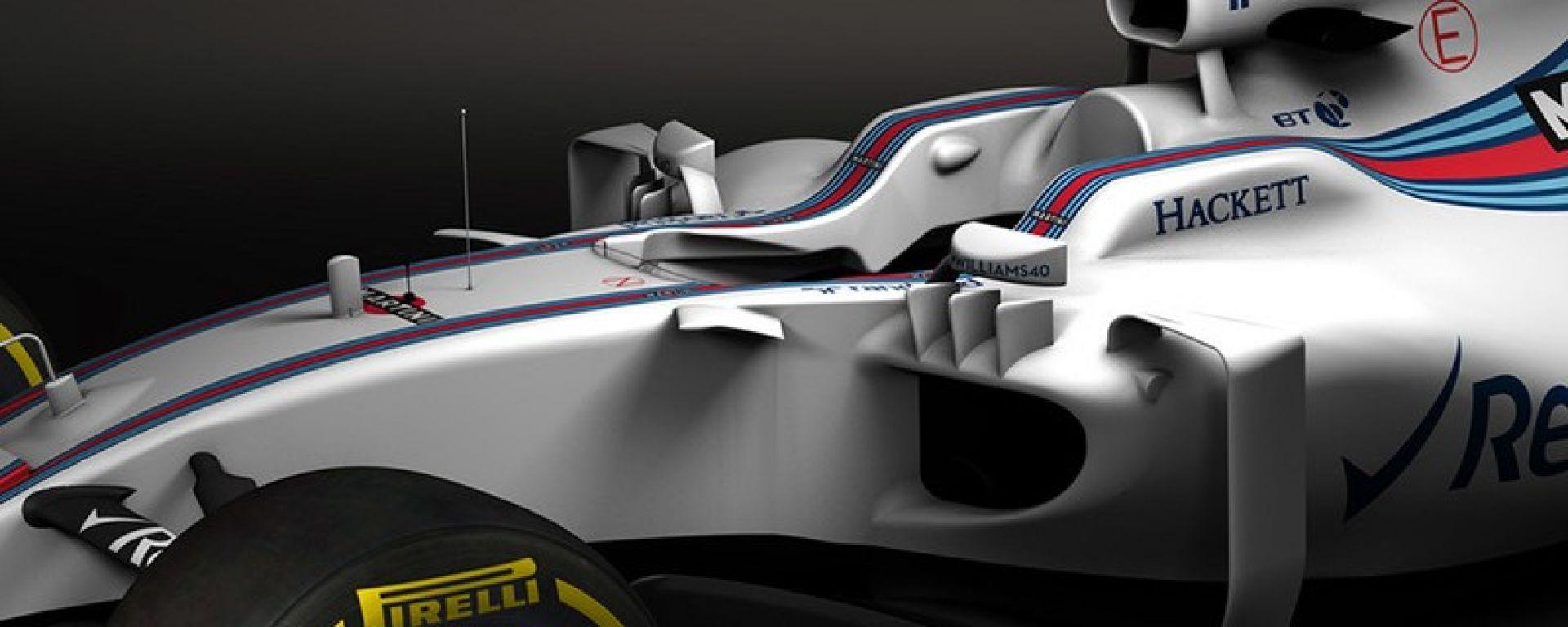F1 2017: svelate le prime immagini della Williams FW40