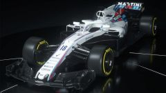 Williams FW41 2018, vista tre quarti anteriore
