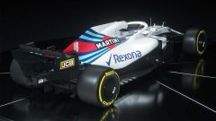 Williams FW41 2018, vista tre quarti posteriore