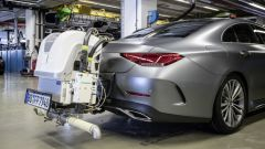 WLTP vs NEDC: i macchinari per i test RDE su una Mercedes