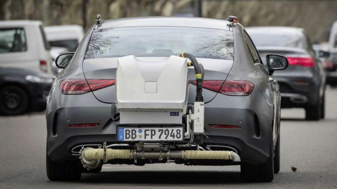 WLTP vs NEDC: i test RDE su una Mercedes