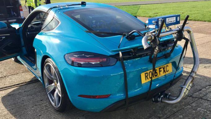 WLTP vs NEDC: la strumentazione RDE su una Porsche