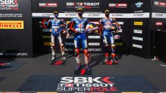 WorldSBK 2020 Estoril, Toprak Razgatlioglu, Garrett Gerloff, Michael Van der Mark (Yamaha)