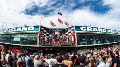 WorldSBK Phillip Island 2020, Australia, il podio di Gara-2 Lowes, Rea, Redding