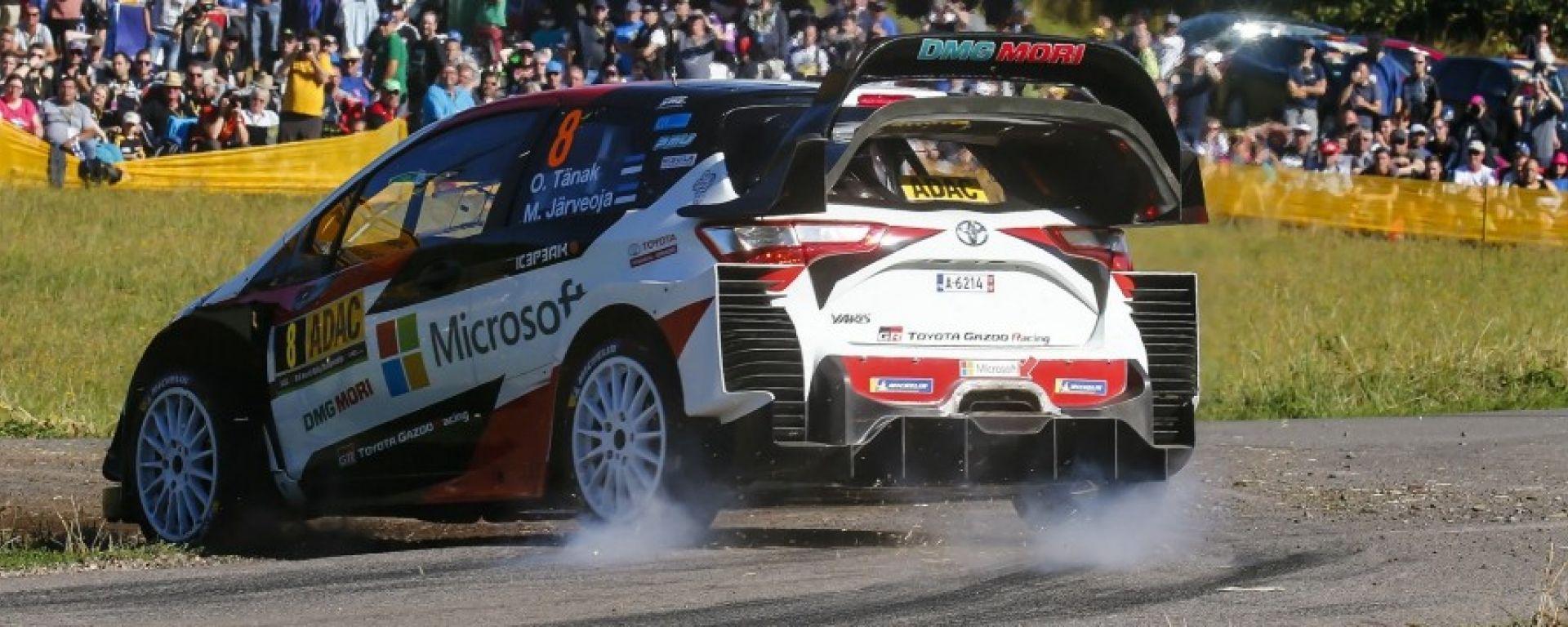 Rally Germania: Tanak primo con Toyota. Ogier davanti a Neuville