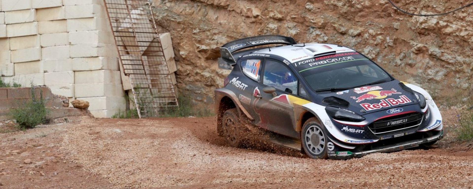 WRC 2018, Rally Sardegna: Ogier in testa nella prima giornata