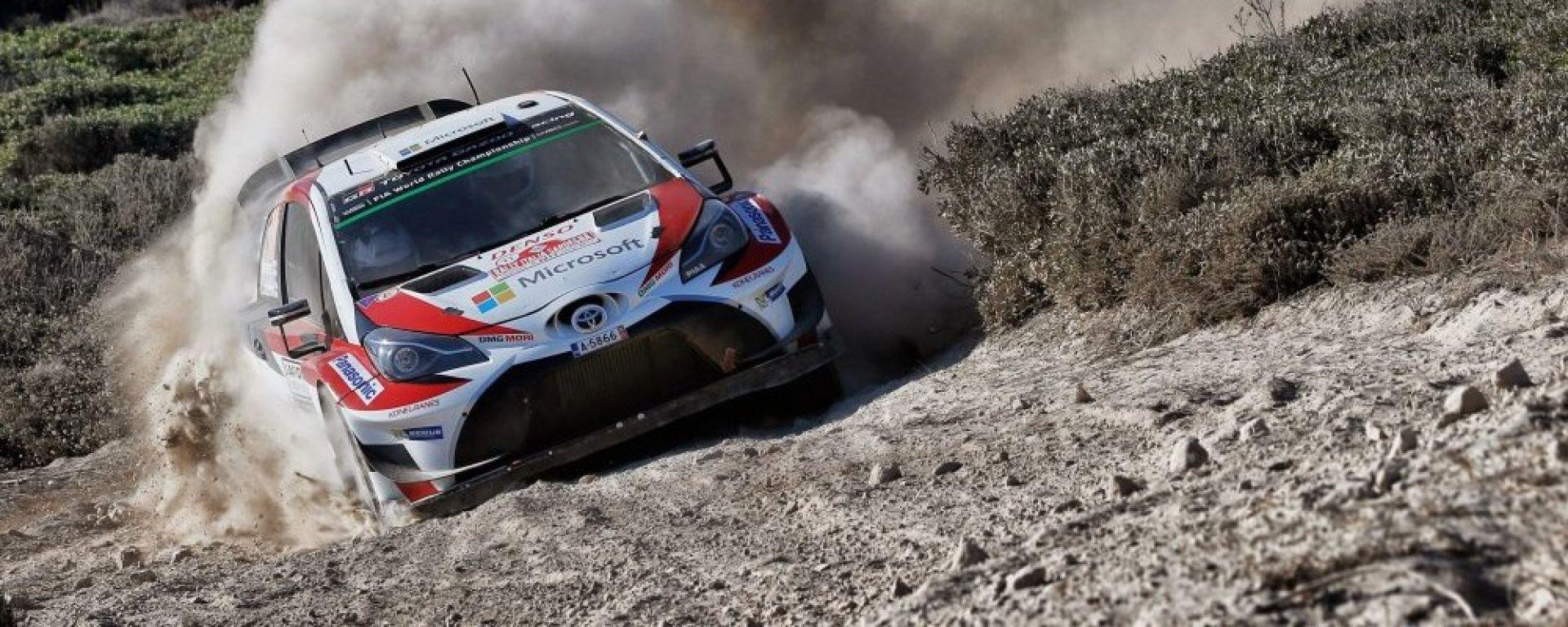 WRC 2018, Rally Sardegna: Toyota con Latvala davanti a tutti nello Shakedown