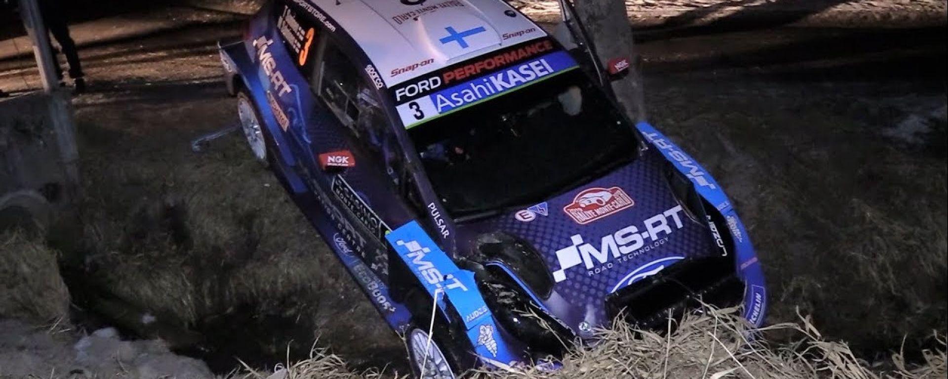Rally Monte-Carlo: Suninen si ritira tamponato da Rovanpera