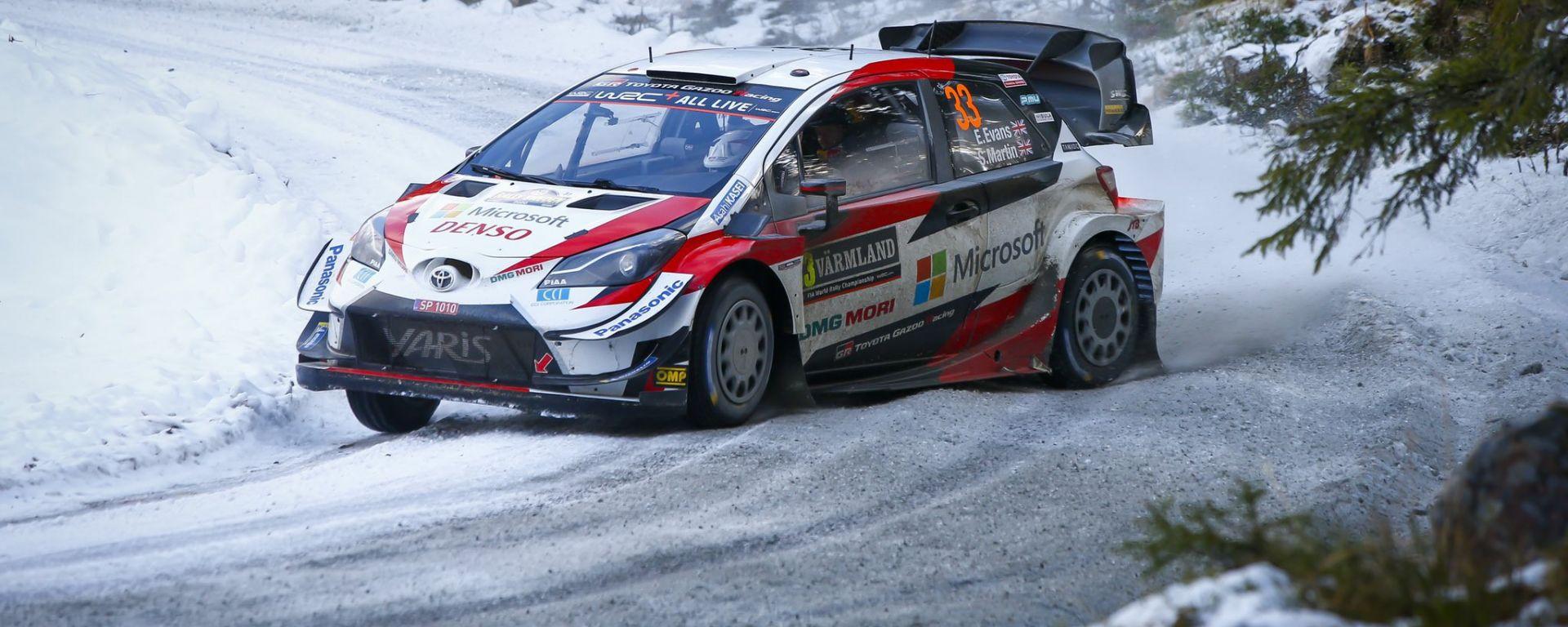 WRC 2020: Elfyn Evans impegnato nel Rally Svezia