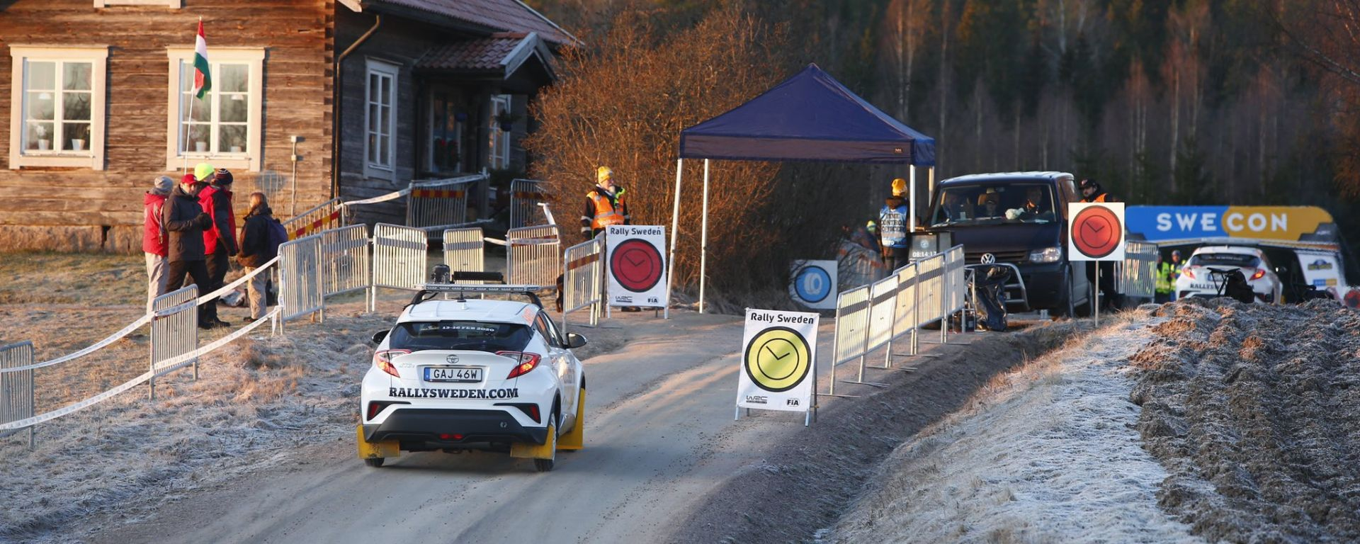 WRC 2020: un'immagine della scarsità di neve al Rally Svezia