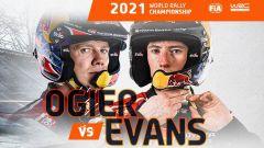 Ogier contro Evans: tutte le combinazioni per il titolo 2021