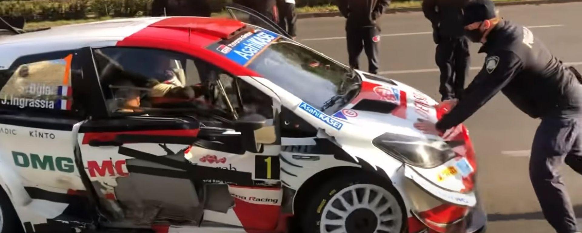 WRC , Rally Croazia 2021: il momento della pericolosa ripartenza di Sebastien Ogier