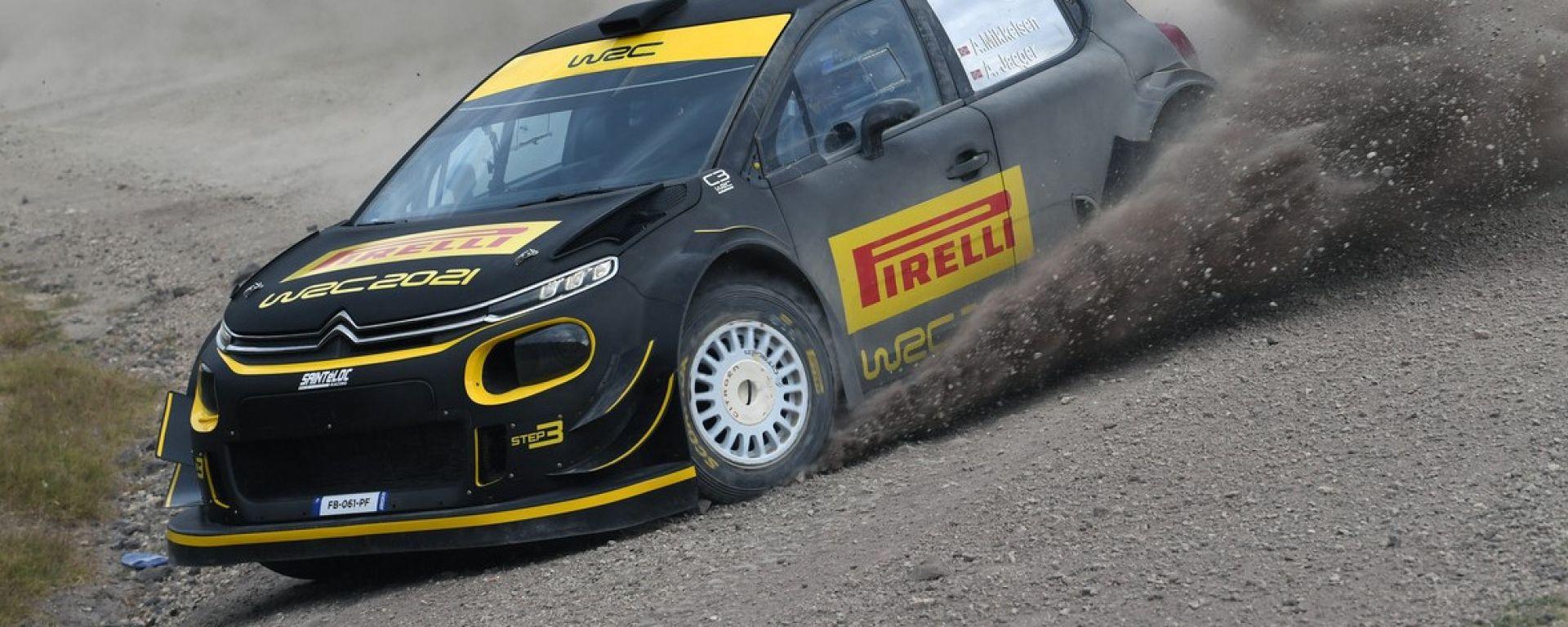 WRC, Rally Italia 2020: la Citroen C3 di Andreas Mikkelsen con livrea Pirelli