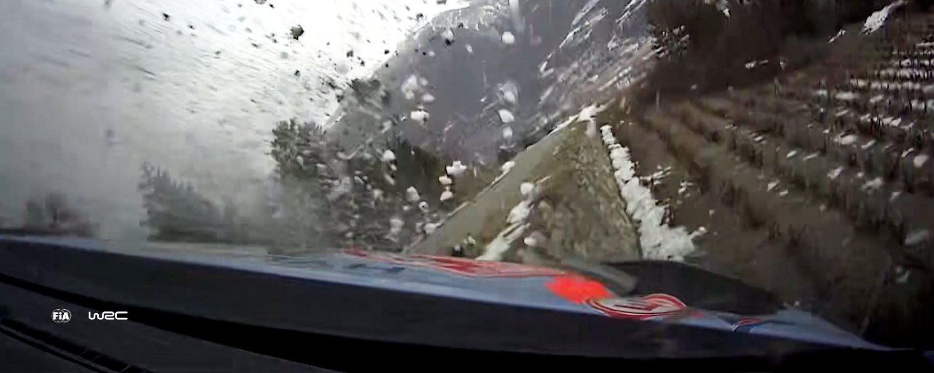WRC, rally Montecarlo 2020: immagine onboard dello spaventoso incidente di Tanak (Hyundai)