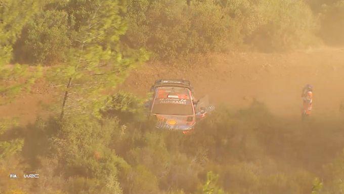 WRC Rally Turchia 2020: l'incidente di Ott Tanak (Hyundai i20 Coupé)
