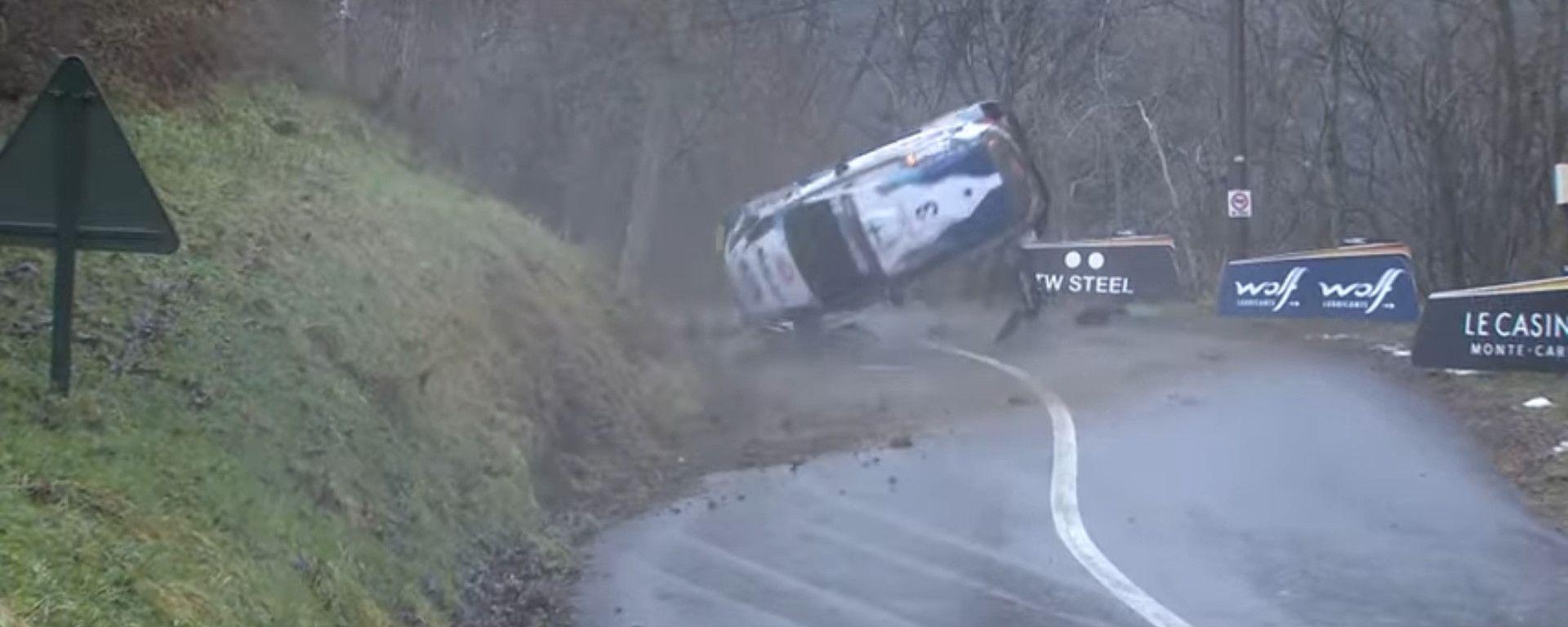 WRC Rallye Monte Carlo 2021: l'incidente di Teemu Suninen (Ford Fiesta WRC M-Sport)