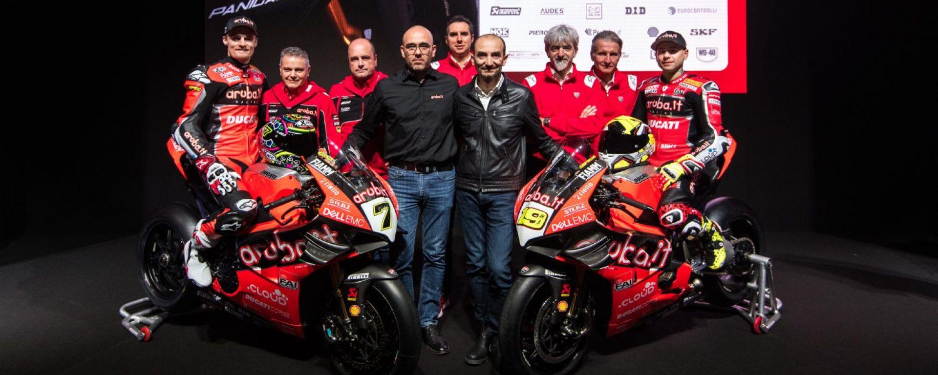 Presentata la nuova Ducati Panigale VR-4 del team aruba.it