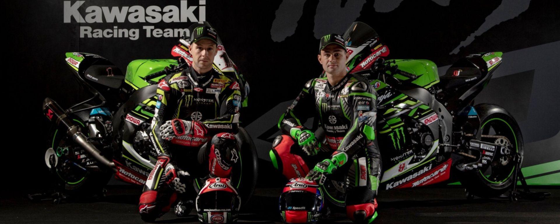 WSBK, presentato il Kawasaki Racing Team di re Johnny Rea