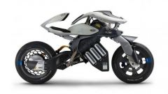 Yamaha MOTOROiD concept, bellissimo il cerchio posteriore
