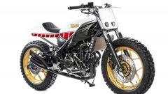 Yamaha MT-03 Dirt Track by Kingston Customs, tre quarti anteriore