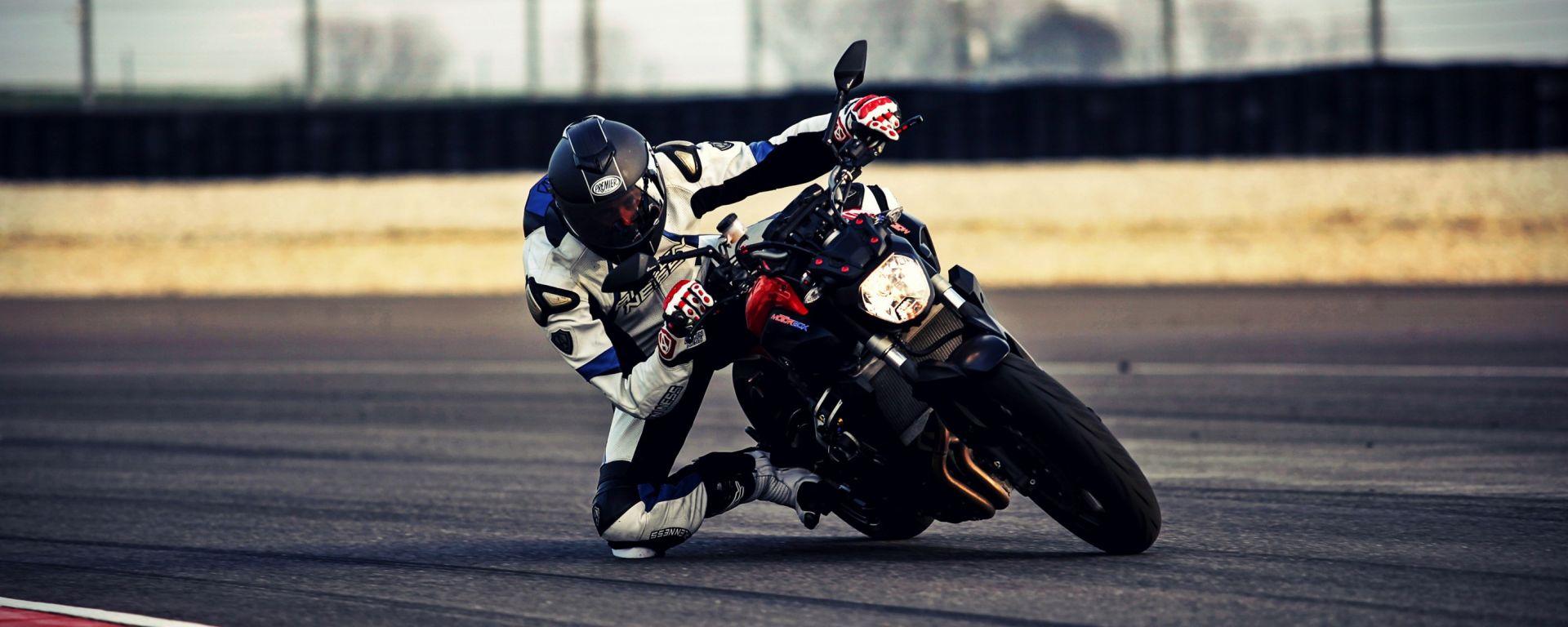 Yamaha MT-07, la prova in pista