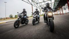 Yamaha MT-07, Honda CB650F e Kawasaki Z650 a confronto