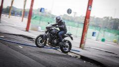 Yamaha MT-07: un momento della prova