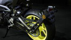 Yamaha MT-09 2017: il portatarga è montato sul forcellone