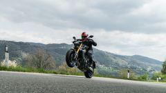 Yamaha MT-09 SP 2021: la ruota anteriore... tende spesso a non voler rimanere a terra