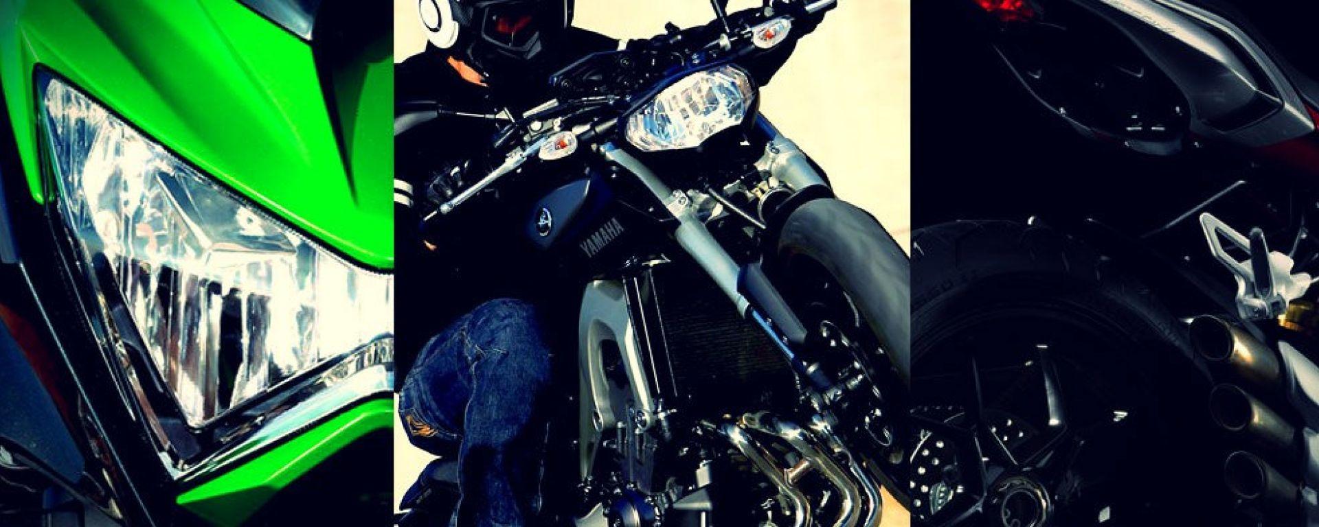 Yamaha MT-09 vs Kawasaki Z800 vs MV Agusta Brutale 800