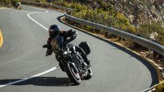 Yamaha MT-10 Tourer Edition, le sospensioni sono tradizionali