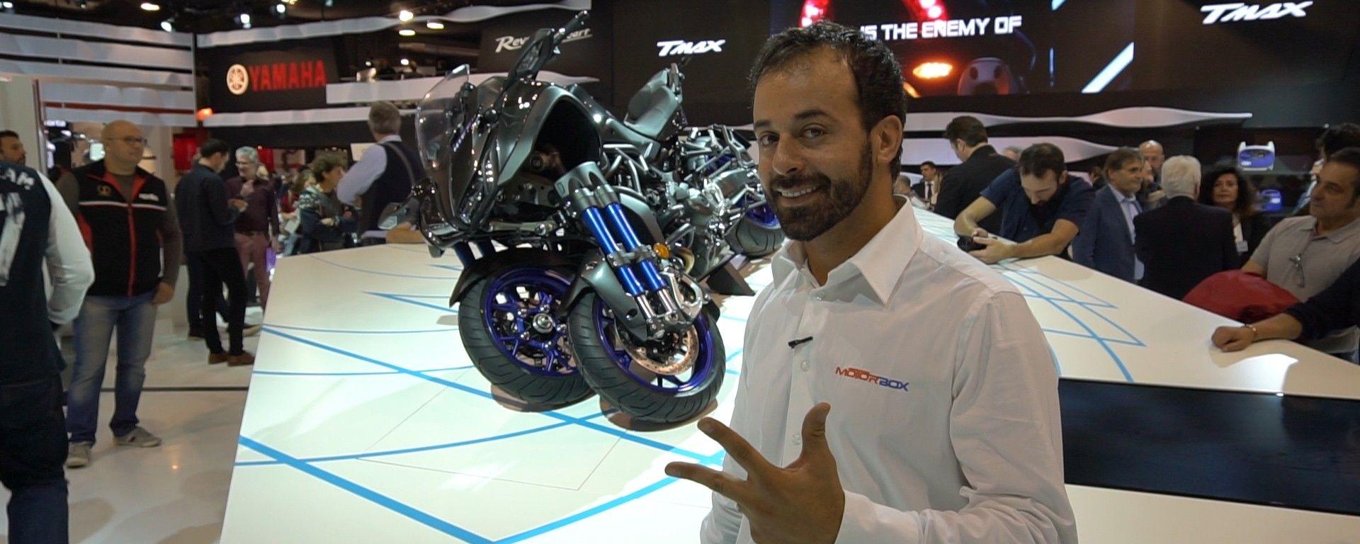 Yamaha Niken: la moto a tre ruote a Eicma 2017 [VIDEO]