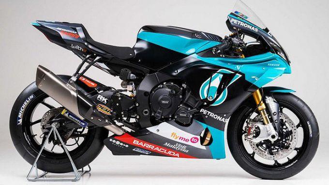 Yamaha R1 Petronas : lo scarico e la centralina sono dedicate