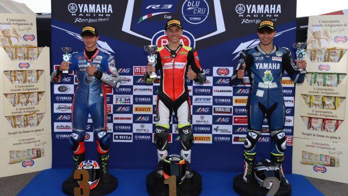 Yamaha R3 Cup: il podio