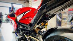Yamaha R9M: sospensioni Ohlins e gomme slick, pronta per correre