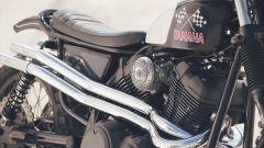 Yamaha SCR950 Chequered by Brat Style, particolare della fiancata