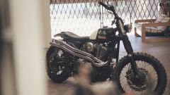 Yamaha SCR950 Chequered by Brat Style, scrambler Yard Built